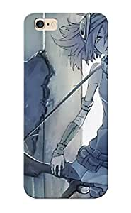 Iphone 6 Plus Case - Tpu Case Protective For Iphone 6 Plus- Guns Robots Gray Skirts Outdoors Weapons Girls With Guns Teeth Anime Soft Shading Hair Or Case For Thanksgiving's Gift