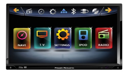 POWER ACOUSTIK PD-769NB Inteq Double DIN Multimedia Indash Source with 7-Inch Screen