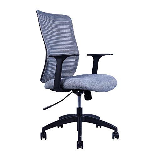 Sunon Ergonomic Mid-Back Mesh Office Desk Chairs Height Adjustable Swivel Task Chair(Grey & Grey) by Sunon