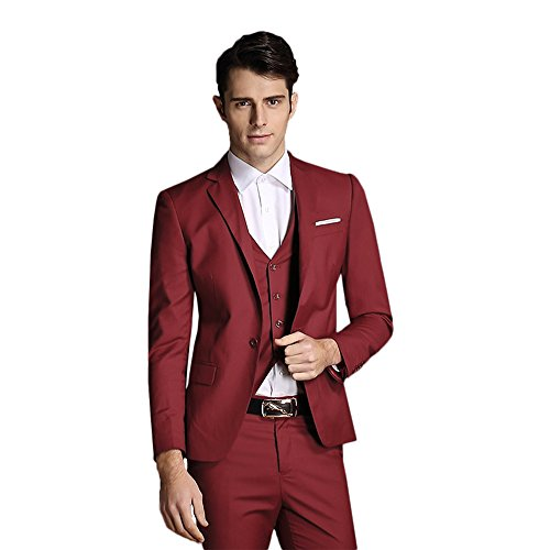 Red 3 Piece Suit - 7