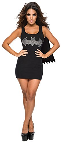 (Rubie's DC Superheroes Batgirl Adult Rhinestone Tank Dress With Removable Cape)