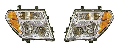 Nissan Headlight Housing (Driver and Passenger Headlamp Headlight Replacement for Nissan 26060-EA525 26010-EA525)