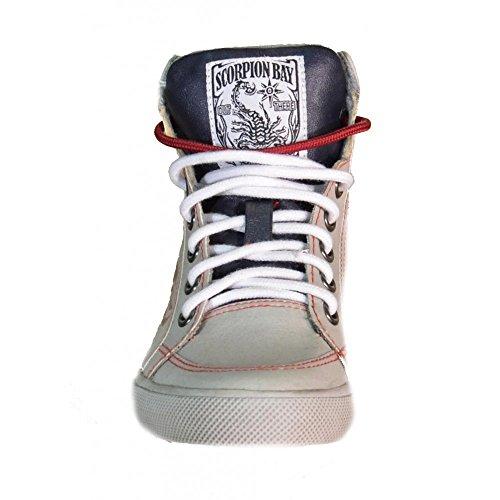 Gris scorpion Baskets Cuir Bay 511sb3 Bay Scorpion Enfant Mode z8twnq5