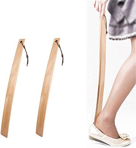 シューホーン 大人の男性と女性は靴を着用する高齢者やロングハンドル靴ホーン(38センチメートル)に適してい 軽量で快適なデザイン (色 : Multi-colored, Size : 38cm)