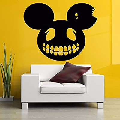 jiuyaomai Monster Mouse Head Zombie Halloween Pegatinas de Pared ...