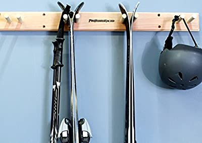 Ski Wall Rack Mount -- 4 Vertical Sets of Skis