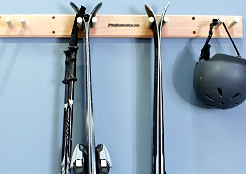 Pro Board Racks Ski Wall Rack Mount - 4 Vertical Sets of Skis ()