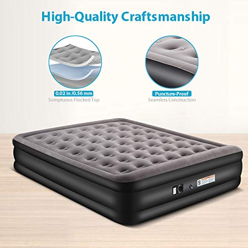 Zoetime Upgraded King Size Double Air Mattress Blow Up Elevated