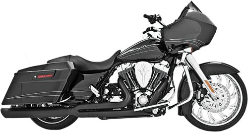 - Freedom Performance Union 2 into 1 Black Exhaust for 1995-2011 Harley Davidson FLH/FLT