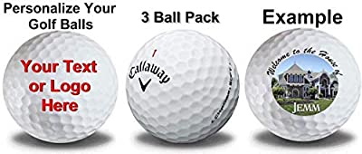 Callaway Chrome Soft Personalized Golf Balls 3-Pack Refinished