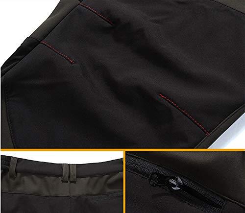 Polaire Taille Pour Softshell Homme Pantalon Hiver Plus Hellomiko Noir Bleu xfYRqwO