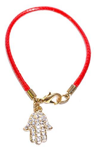 Red Hamsa Bracelet ()