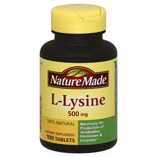 Nature Made L-Lysine 500mg, 100 comprimés (lot de 3)