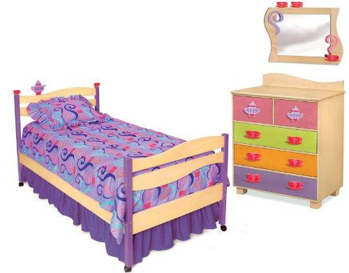 . Room Magic Natural 5 Piece Bedroom Set  Girl Teaset