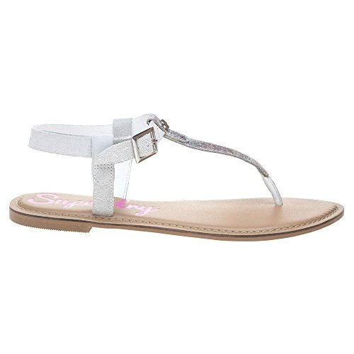 Bondi Superdry White Thong Off Metallic Sandals R1wpAfq