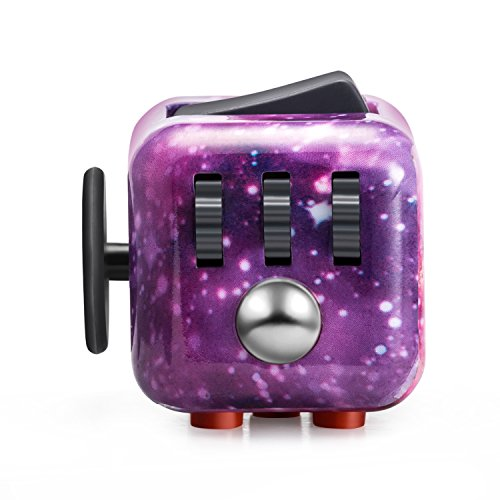Fidget Dice Anti-anxiety and Depression Cube for Children and Adults (Night Sky)