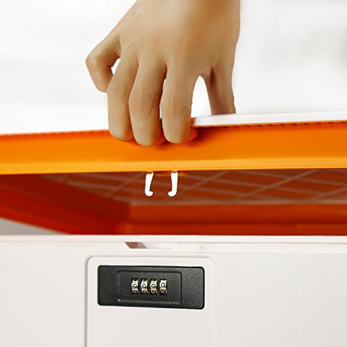 EVERTOP Extra Large Deck Box for Home, Office, Car, White with Code Lock (A-Orange) by EVERTOP (Image #2)