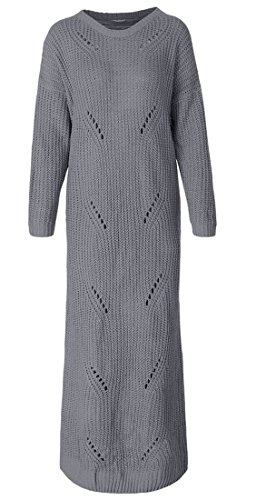 Di Collo Maxi Cava Pullover Delle Vestito Jaycargogo Donne Maglione Gery Modo V 4xwxBT
