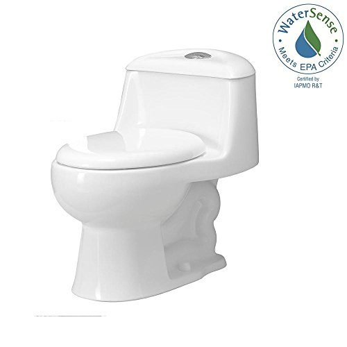Price comparison product image Foremost TL-2100-W Gemini One-Piece Dual-Flush Elongated Toilet with Slow Close Seat in White