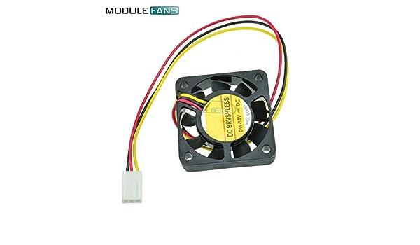 2PCS Computer CPU Cooler Cooling Fan 3 Pin 4cm PC 4cm 40x40x10mm DC 12V