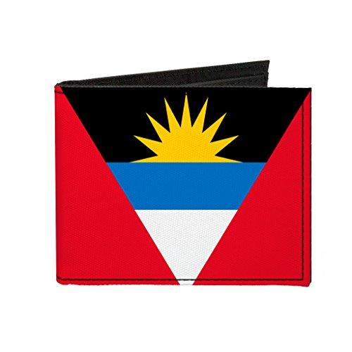 Buckle-Down Canvas Bifold Wallet - Antigua and Barbuda