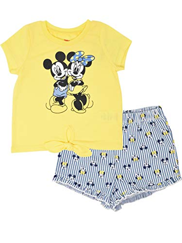 Minnie Mouse Girls' T-Shirt & Chambray Shorts Set