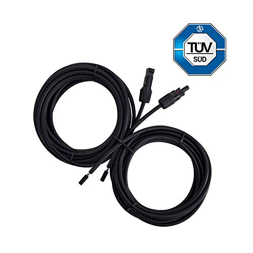Renogy 20Ft 10 AWG Solar Panel and Controller Connector Adaptor Wire MC4 Extension Cables