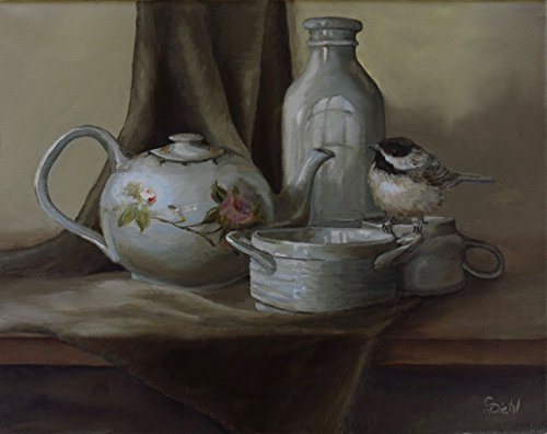 A Chickadee Birds Tea