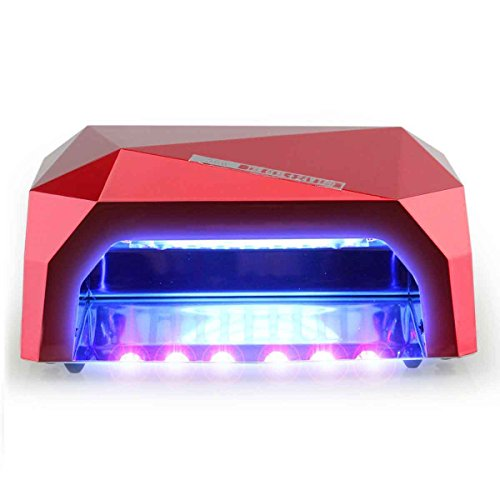 Y&S Pro 36W Nail Dryer LED Lamp Light for UV LED Gel Polish, No Harm Quick Dry Manicure/Pedicure Machine, Color Classic Red