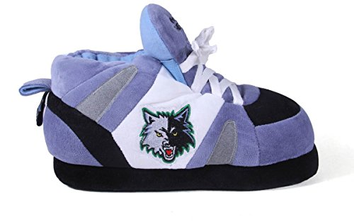 Happy Feet and Comfy Feet Mens and Womens OFFICIALLY LICENSED NBA Sneaker Slippers Minnesota Timberwolves IsTdTZD