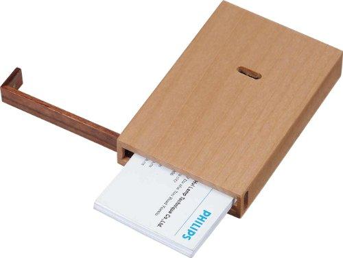 """Visol Products V805B """"Maple"""" Wooden Desktop Business Card Holder"""