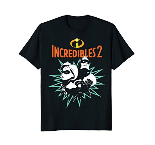 Disney Pixar Incredibles 2 Power Couple Pow Graphic T-Shirt by Disney