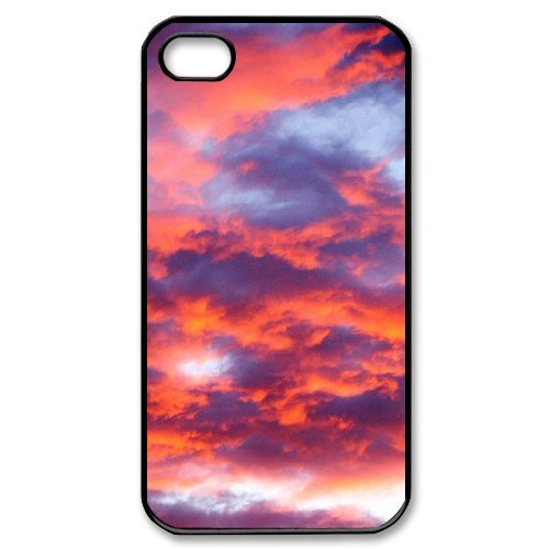 SYYCH Phone case Of Crimson Clouds 2 Cover Case For Iphone 4/4s
