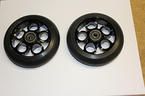 2017 Scooter 110MM Aluminum Core Wheelset W/ Abec 9 Bearings, Black on Black
