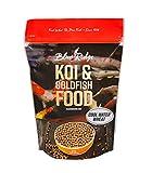 Blue Ridge Fish Food Pellets [5lb] Koi and Goldfish Cool Water Wheat Formula, Floating Large Pellet, Balanced Diet