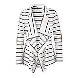 Pandaie Women Jacket,Womens Stripe Casual Long Sleeve Tops Cardigan Jacket Outwear Plus Size