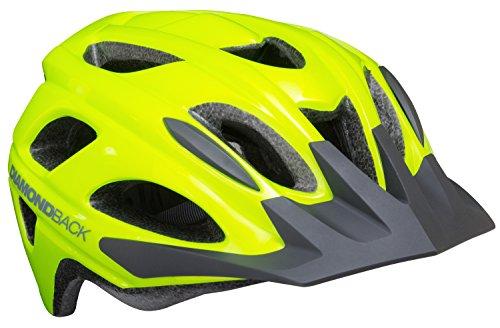 Diamondback Trace Adult Bike Helmet, Flash Yellow, Medium