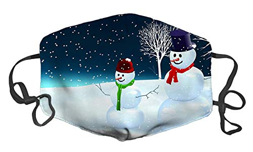Snowman Custom Mouth Mask Anti-Dust Face Mask Adjustable Buckle Face Mask Pollution Flu Pollenm Germs Bacteria Virus ()