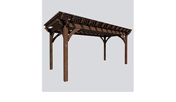 SHADESCAPE - Pergola 10x12 Serie 6.000 Kit de Madera Pesada - 6x6 Posts, 3x10 vigas, 2x8 Rafters, 2x4 Placas de Sombra, Pergola de Madera de Western Timber Frame (Primeros Estados Unidos -