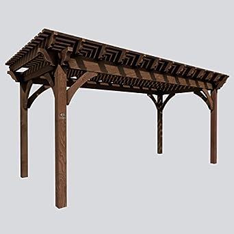 SHADESCAPE - Pergola 10x12 Serie 6.000 Kit de Madera Pesada - 6x6 Posts, 3x10 vigas, 2x8 Rafters, 2x4
