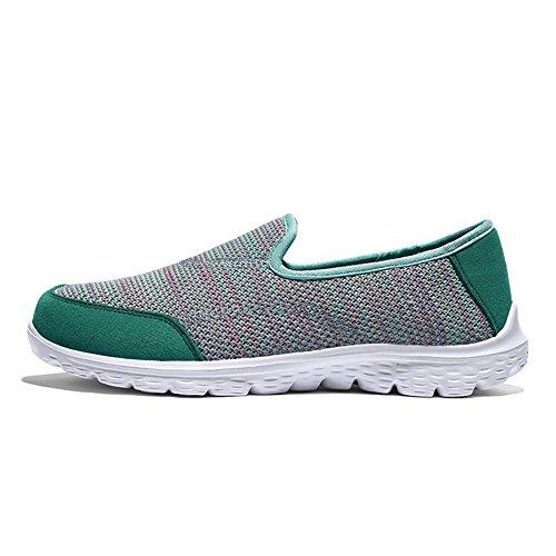 XMeden para Verde mujer XMeden mujer Zapatillas para Zapatillas Verde wUqZC4Ct