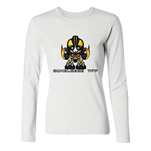 Kittyer Women's Bumblebee Transformers Long Sleeve Cotton T Shirt ()