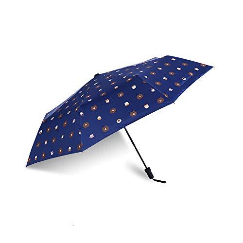 Paraguas Plegable Ligero y Resistente, 1 Punto Abierto y Cerrado ...