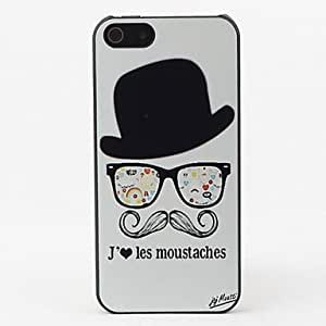 JJEMoustache Style Protective Hard Back Case for iPhone 5/5S