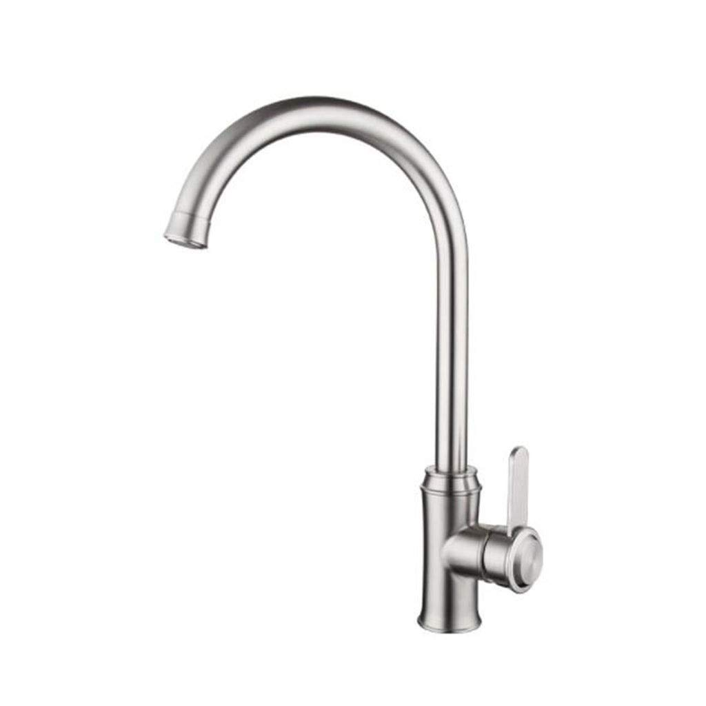 Kitchen Faucet, Stainless Steel Rotatable Hot and Cold Faucet