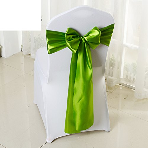 Wedding chair back cover/decorative streamers/bow ribbon-K by WXTFQB
