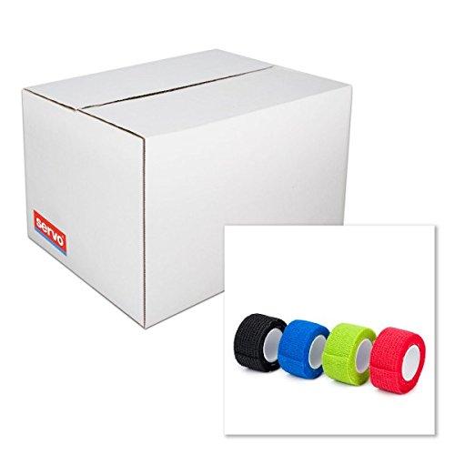 Pflaster in den Maßen 2,5 cm x 4 m zum Schutz vor Verletzungen | in verschiedenen Farben | Das Rollenpflaster ist platzsparend zu verstauen & im Notfall schnell einsetzbar | 8 Rollen | Rieger