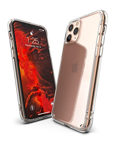 Ringke Fusion Case Made for iPhone 11 Pro (5.8) (2019) Tough Impact Alleviation Technology Raised Bezel Shield for iPhone 11 Pro Case Cover - Clear Transparent