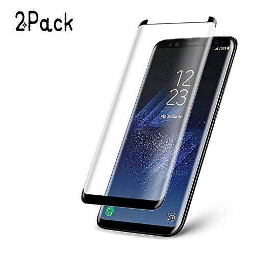 [2 Pack] Galaxy Note8 Tempered Glass Screen Protector, [New Version] [Case Friendly] [9H Hardness] Screen Protector for Samsung Galaxy Note 8 [Black] (Note8/2Pack)