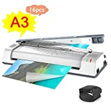 The Latest ABOX Thermal Laminator Machine for A3/A4/A6, Laminating Machine with Two Roller System, Jam-Release Switch and Automatic Shut Off Function, Fast Warm-up, Quick Laminating Speed, for Home,